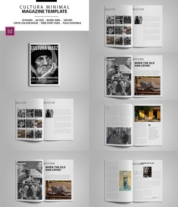 Magazine Templates With Creative Print Layout Design