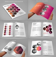 Layout Magazine Design Template