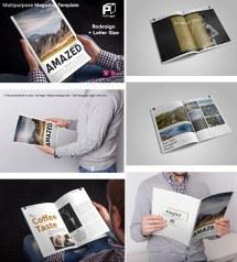 Layout Magazine Design Template