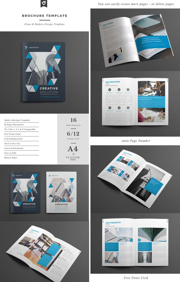 Indesign Brochure Templates - Creative