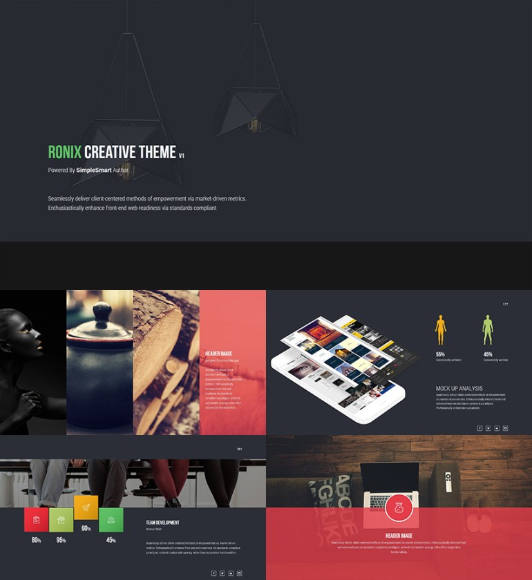 Creative PowerPoint Theme Design Ronix