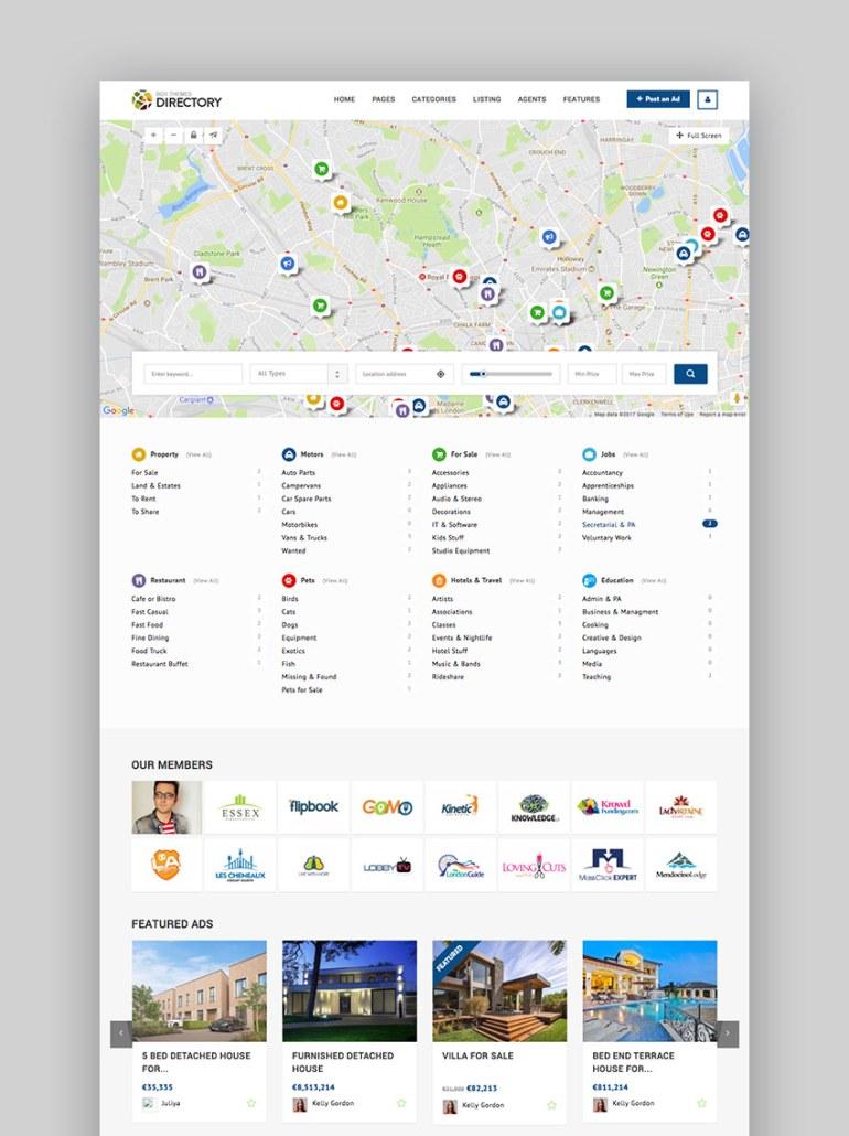 Directory Multipurpose WordPress Business Listing Theme