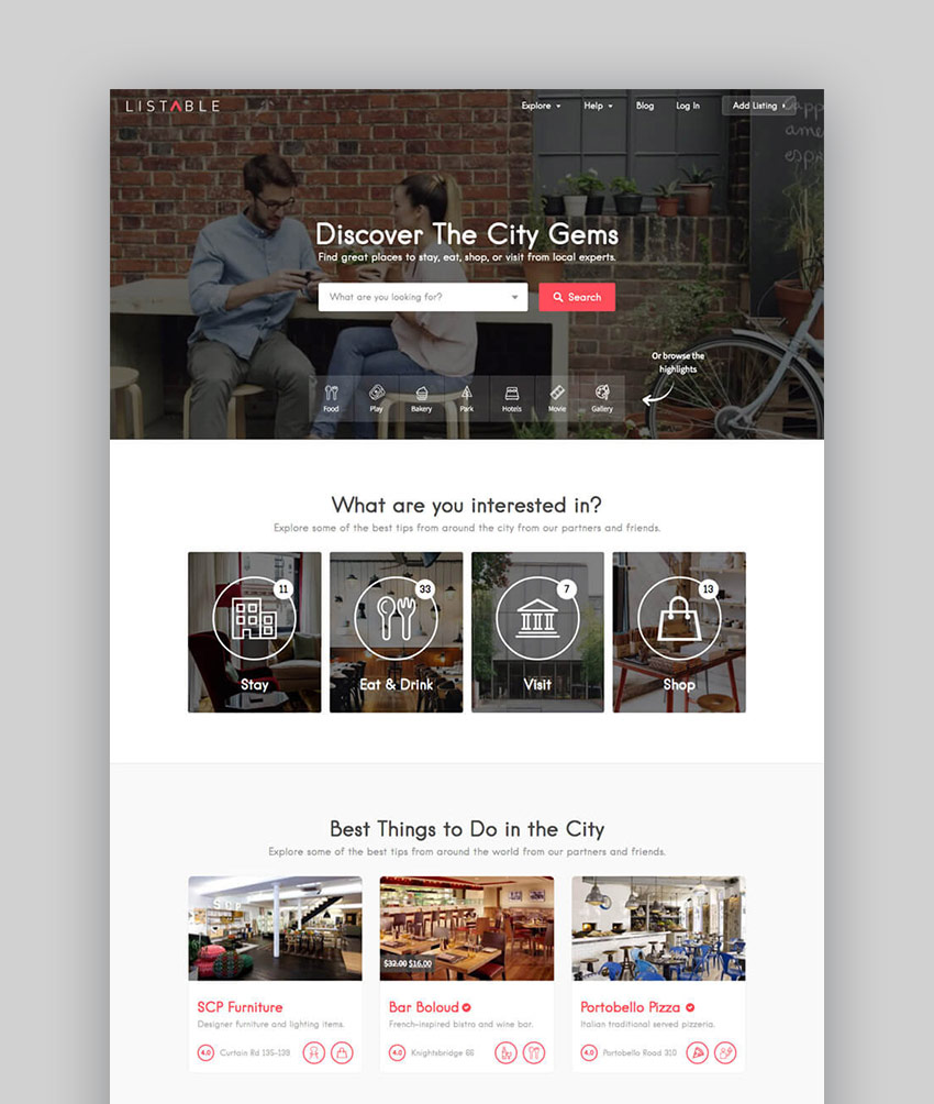 20 best wordpress directory themes to make business websites 2017 listable business directory wordpress listing theme accmission Gallery