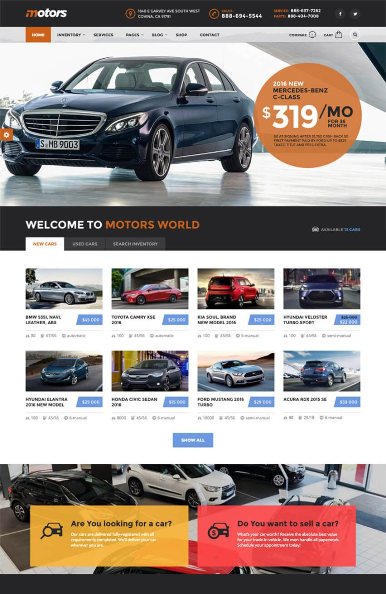 Motors Directory WP Theme for Vehicle Listings