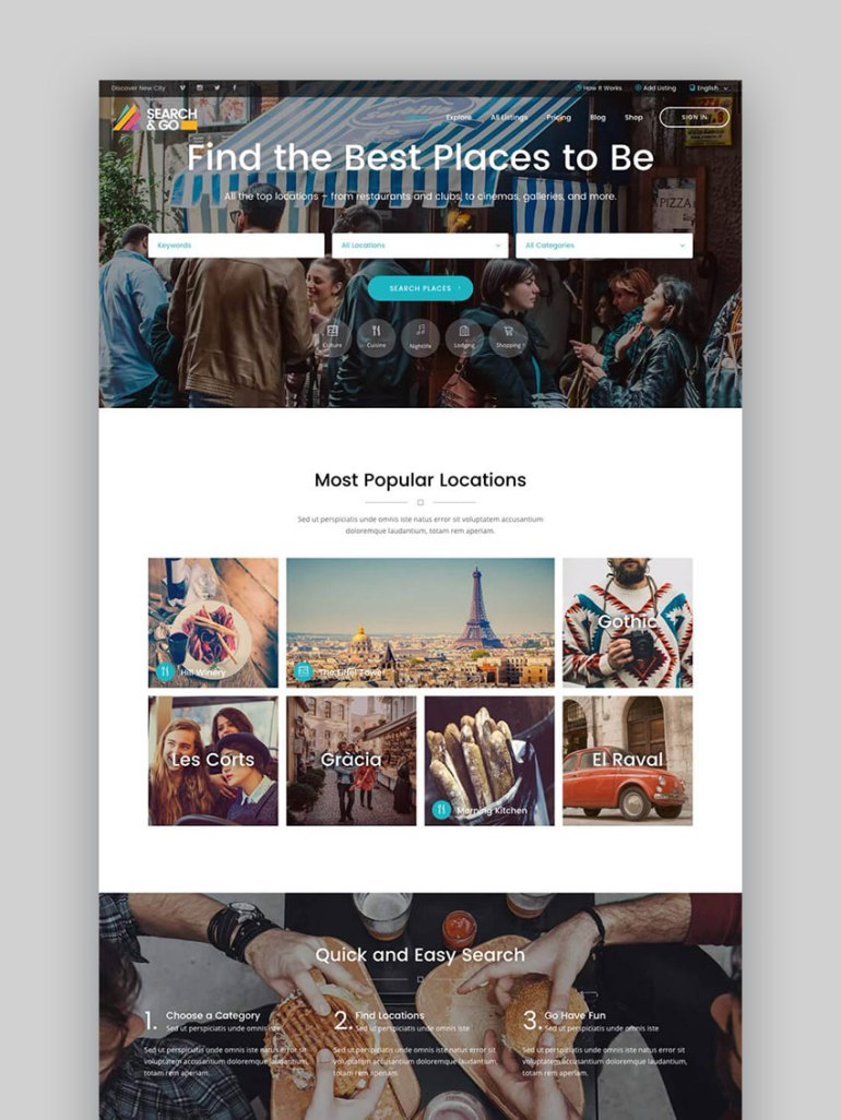 20 best wordpress directory themes to make business websites 2017 search go smart wordpress business directory theme accmission Choice Image