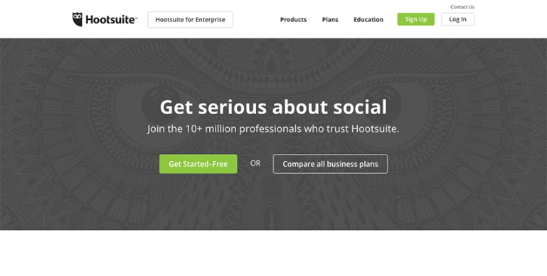Hootsuite for more robust social tracking