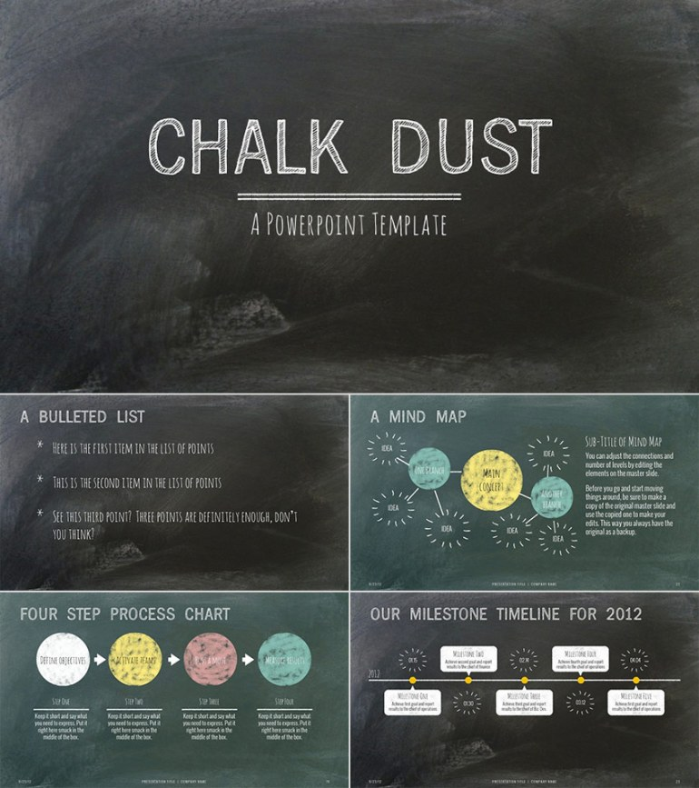 Chalk Dust Education PPT Presentation Template Design