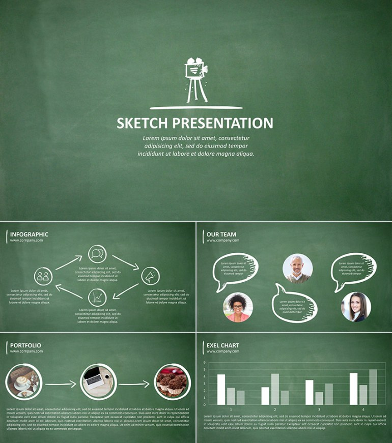 Sketch 20 PPT Presentation for School Design