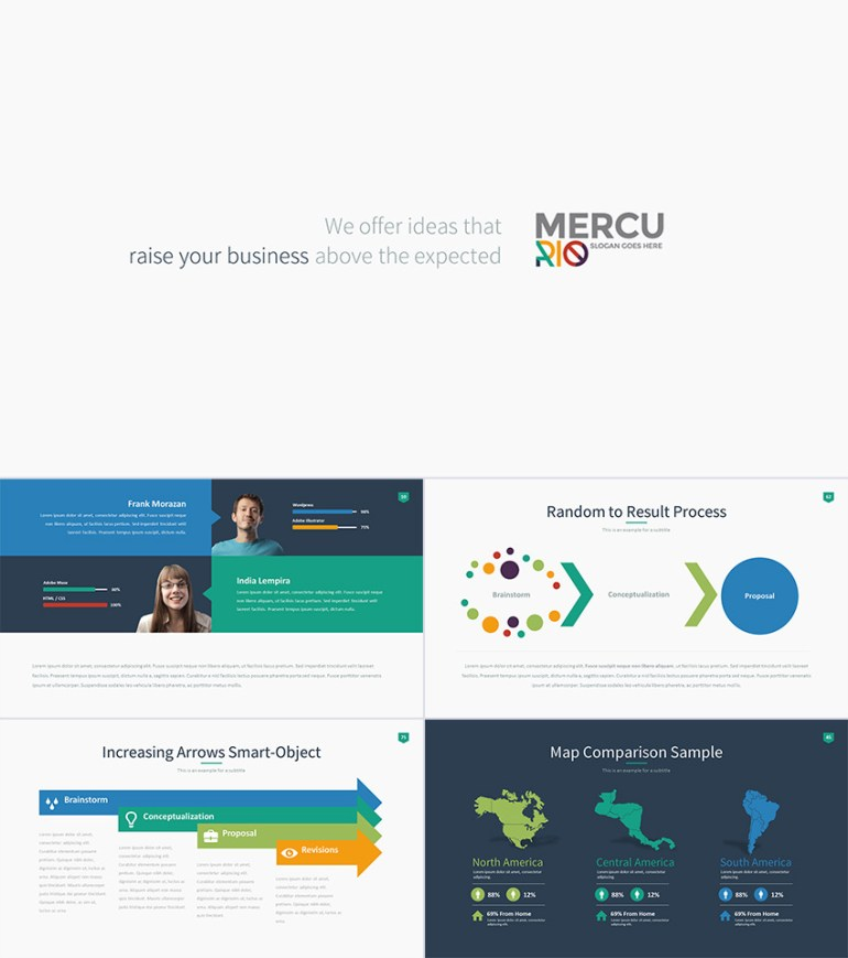Mercurio PowerPoint Presentation Template Design