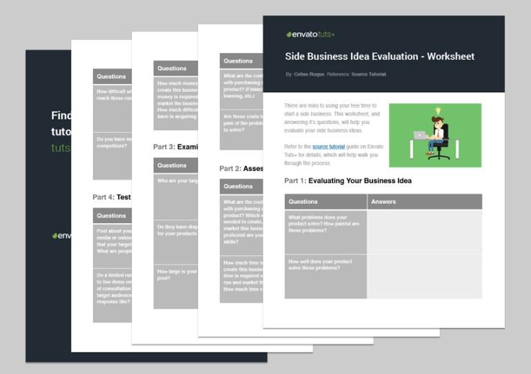 Side Business Idea Evaluation - Worksheet