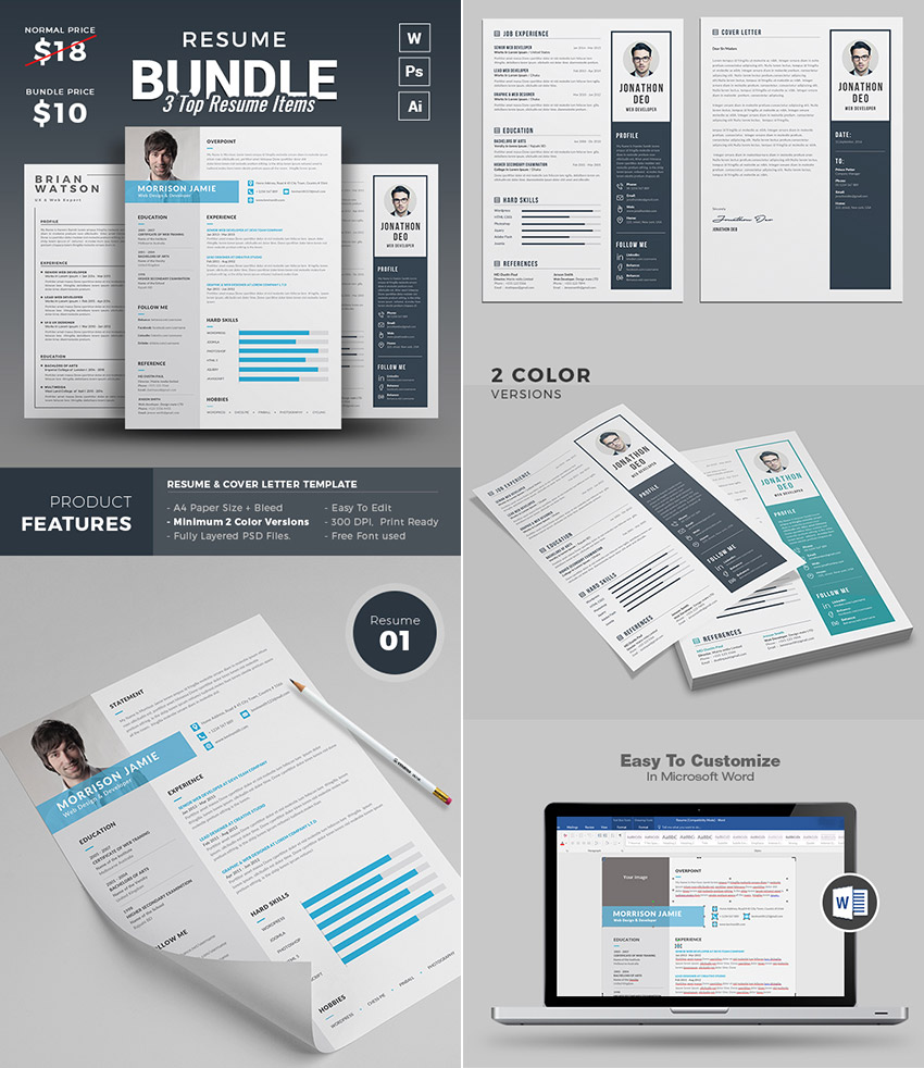 Microsoft Word Templates For Resumes 25 Professional Ms Word Resume Templates With Simple Designs For 2019