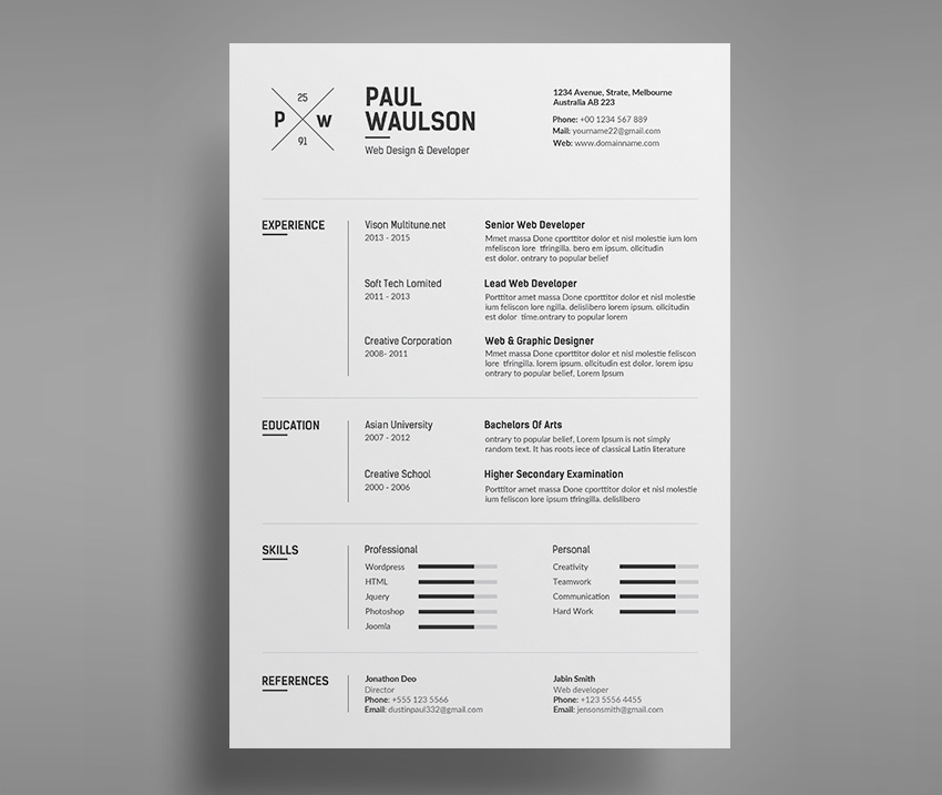 make a resume stand out