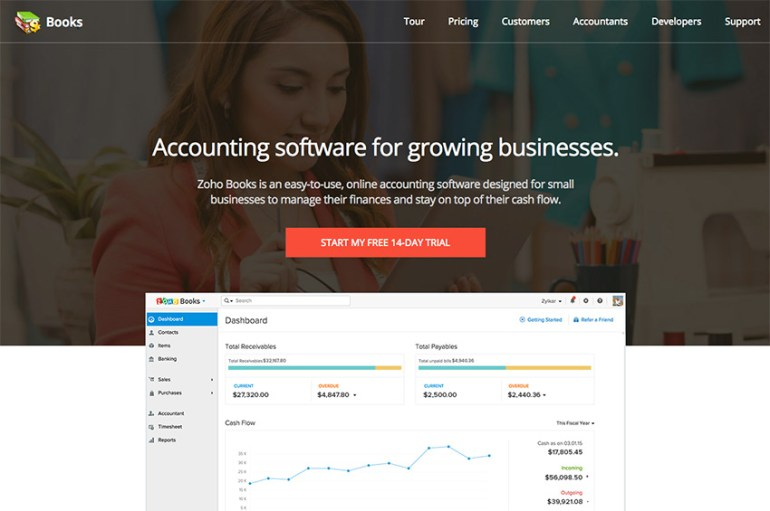 Zoho Books online accounting software for small business