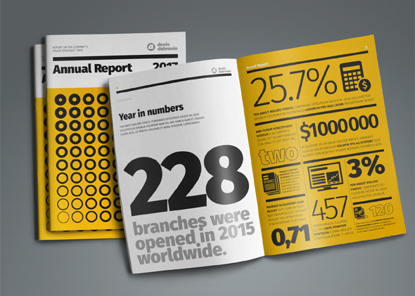 Infographic from creative annual report InDesign template