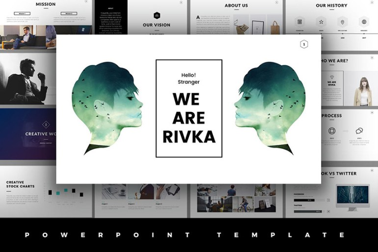 The best powerpoint templates of 2016 ppt presentation designs rivka unlimited use minimal powerpoint template toneelgroepblik Choice Image