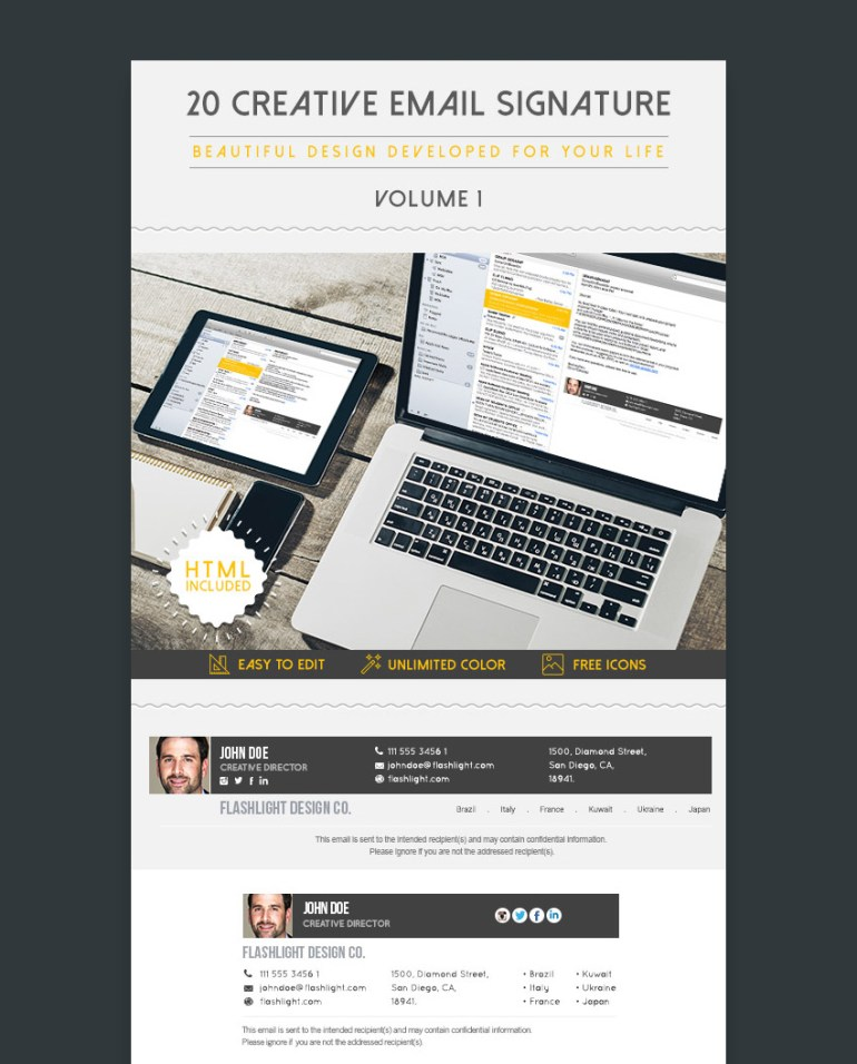 Unique Email Signature Templates With Proper Modern Formats