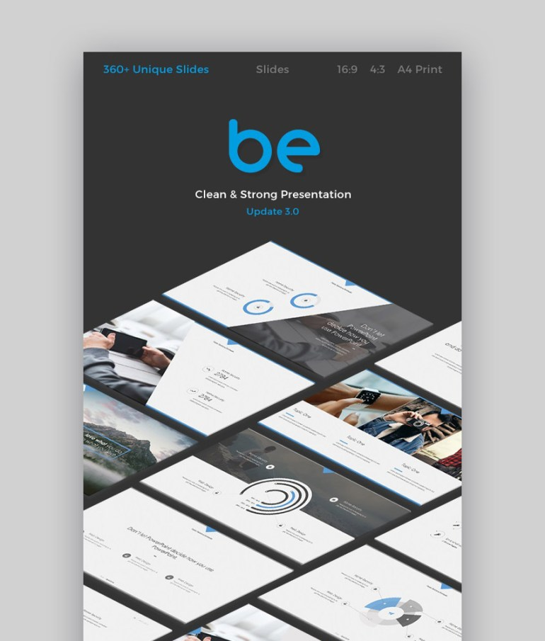 Be Slides Modern Google Presentation Theme Design