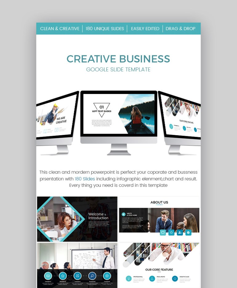 Creative Business Google Slide Presentation Template Design