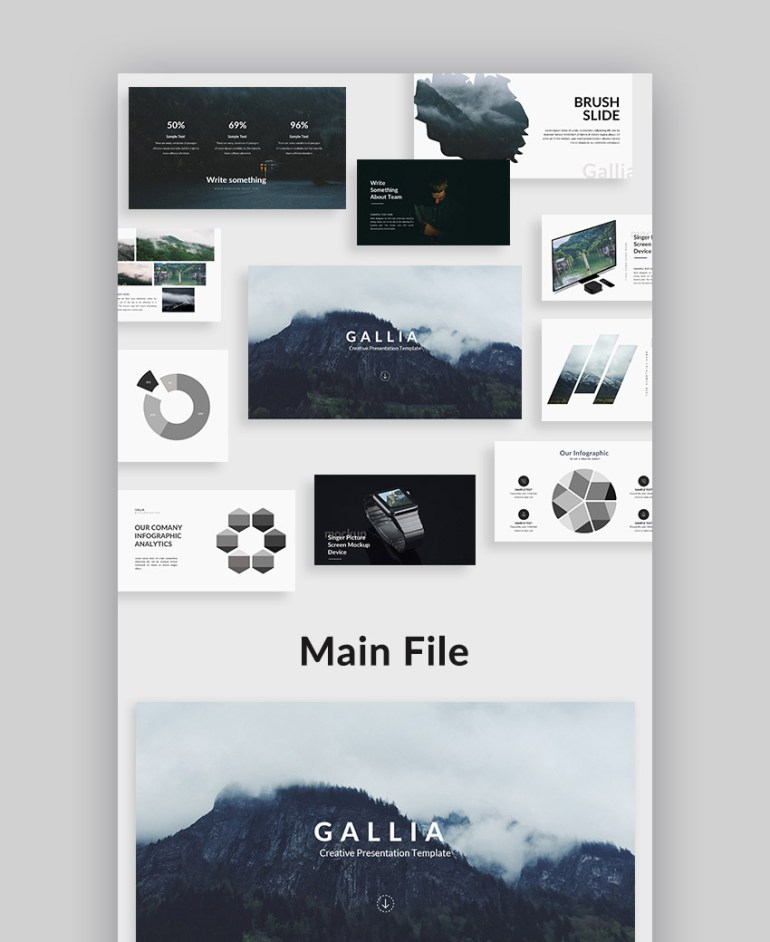 Gallia Creative Google Slide Presentation Template