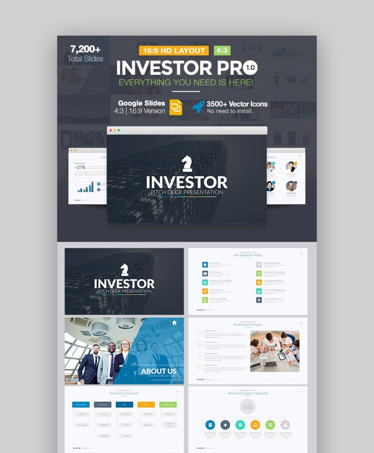 Investor Pitch Deck Cool Google Slides Template