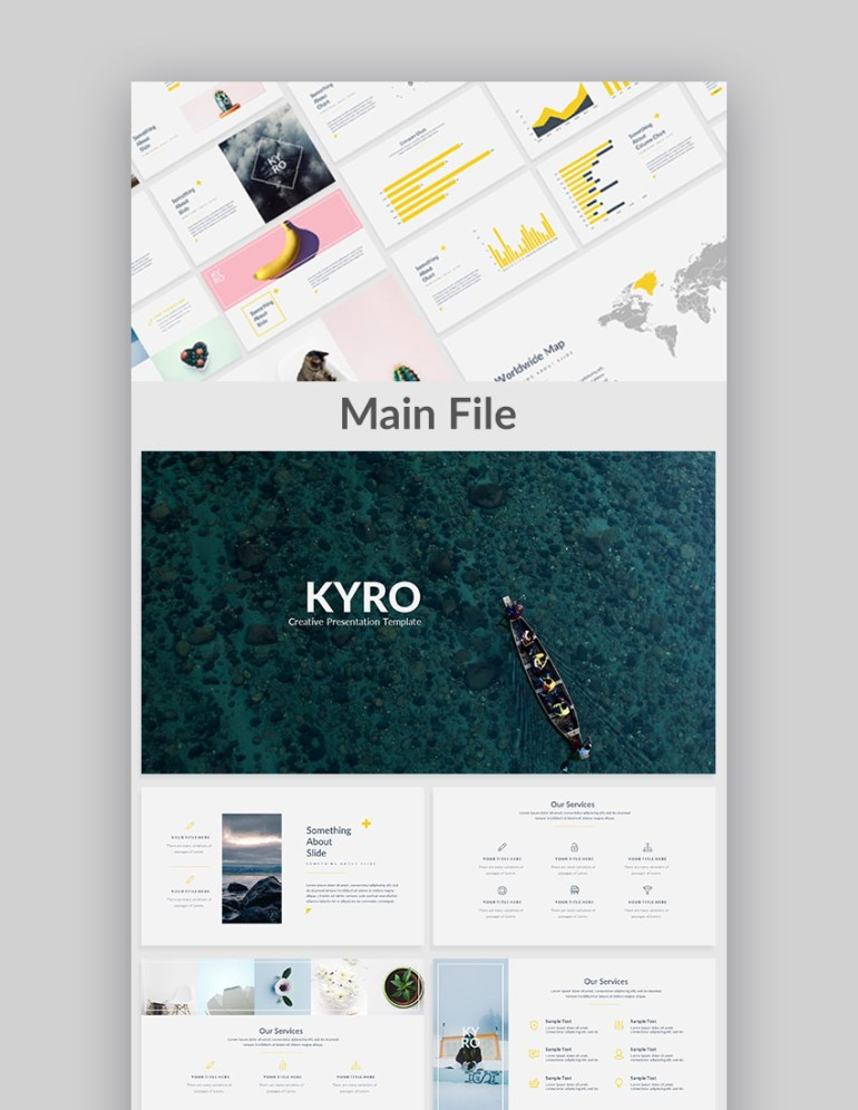 Kyro Cool Google Slide Presentation Theme Design