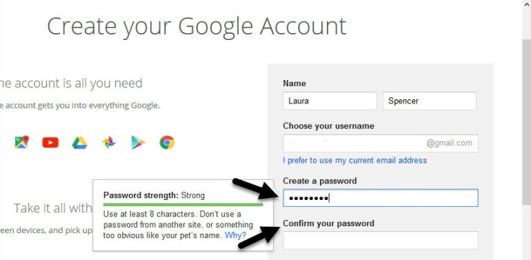 Gmail tutorials--creating a Gmail account