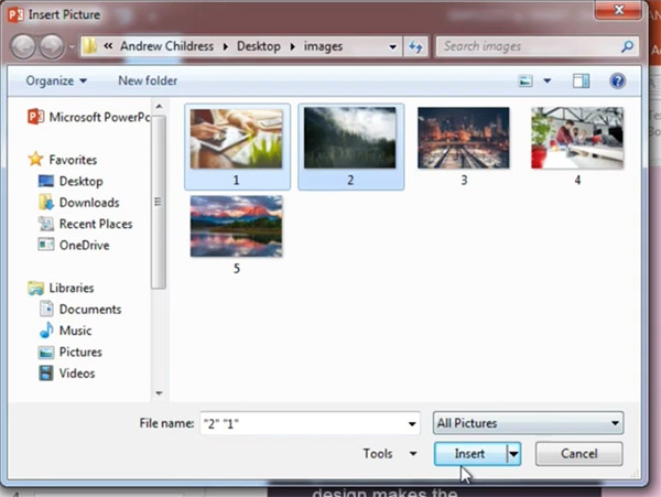 Add Multiple Images to PowerPoint At Once