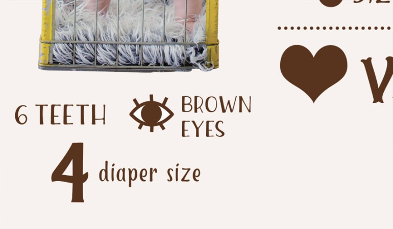 Diaper size text