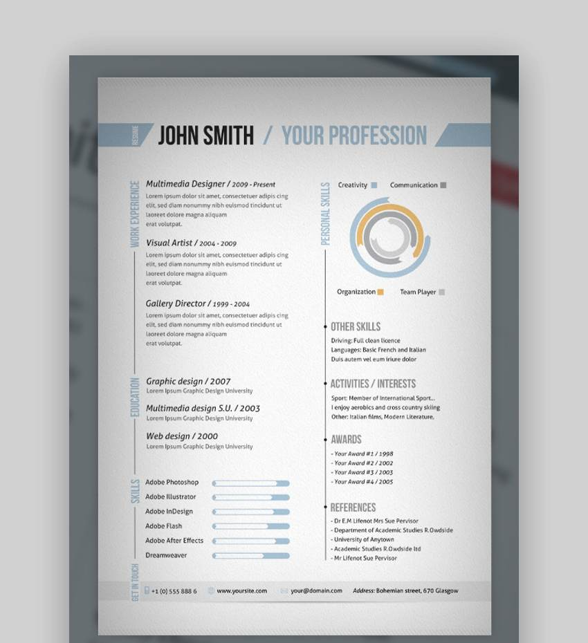 Pages Templates Resume 25 Top One Page Resume Templates With Simple To Use Examples