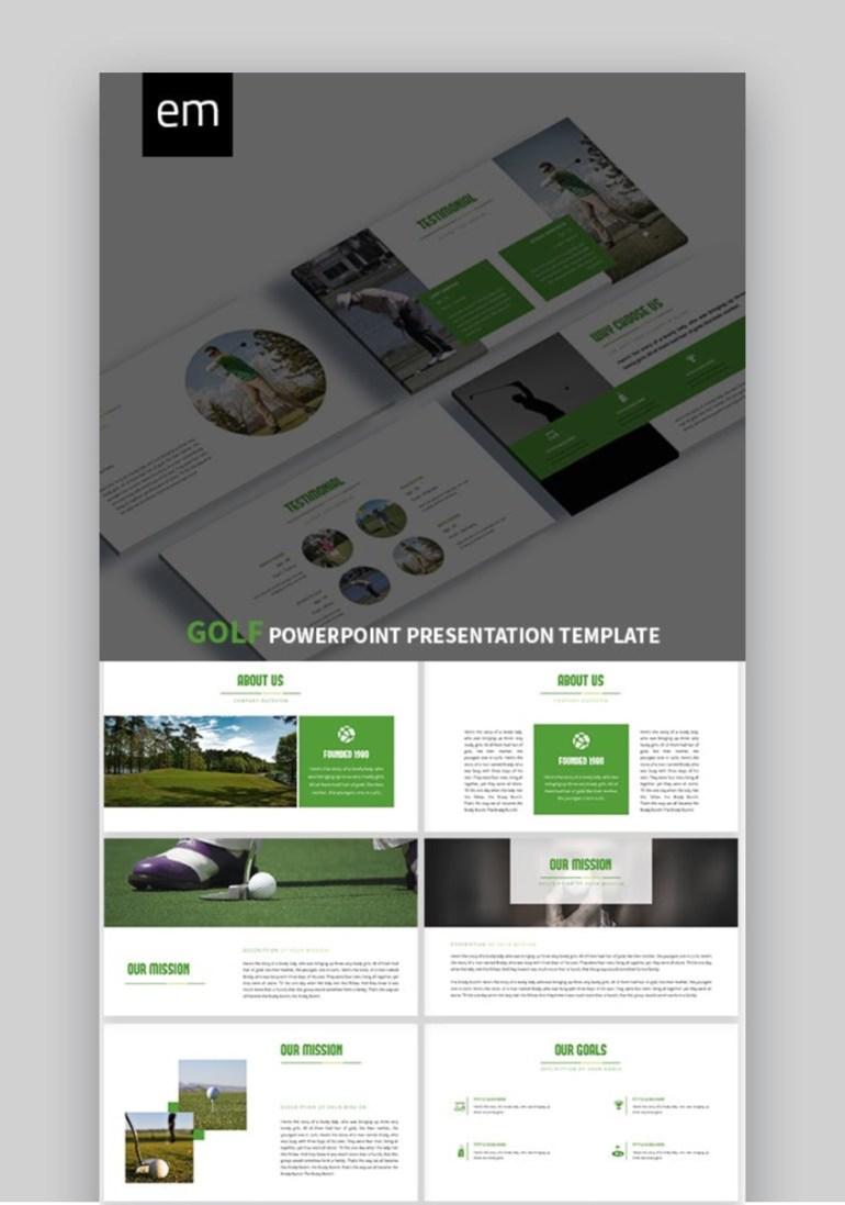 EM Golf Sports Design Slides TemplateTemplate
