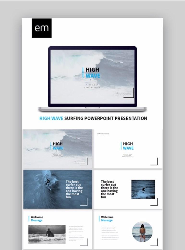 EM High Wave Sports Presentation Template
