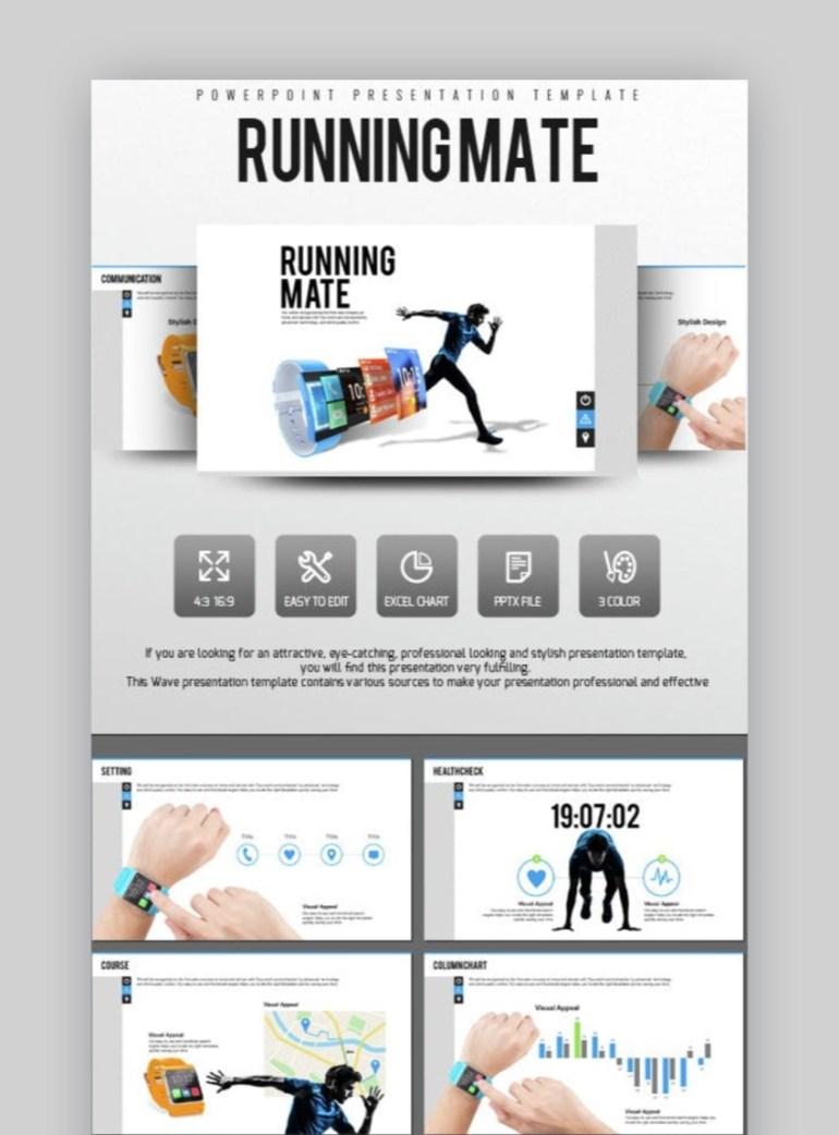 Running Mate Sports PowerPoint Presentation Template