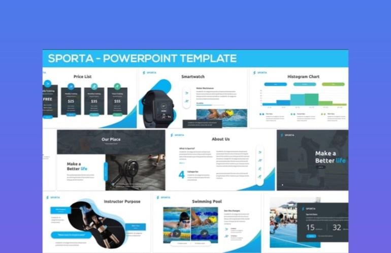 Sporta Sports PowerPoint Slides