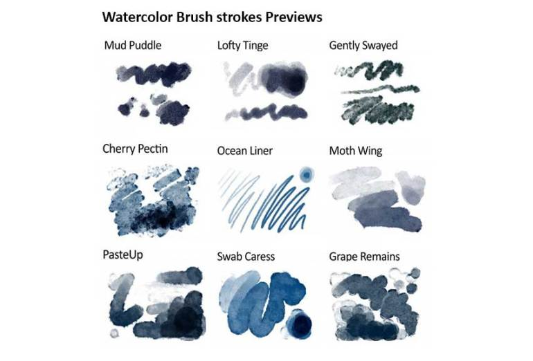 Realistic Responsive Watercolor Brushes