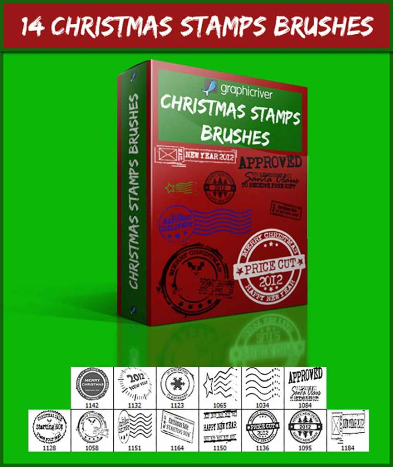 14 Christmas Stamps Brushes