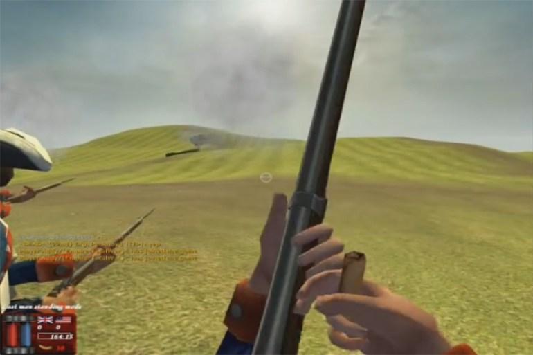 Reloading a Musket in Battlegounds 2