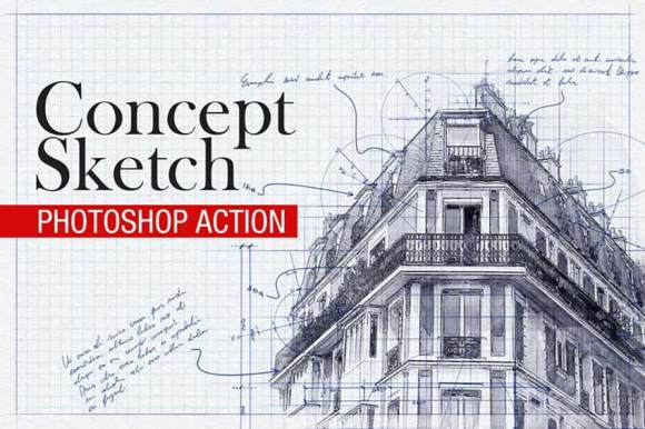 Concept Sketch - Photoshop Action