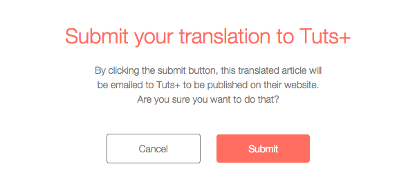 Submit to Tuts dialog