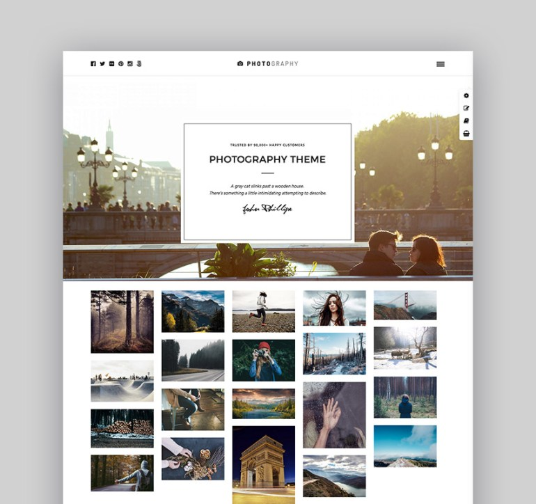 Responsive Photography Theme
