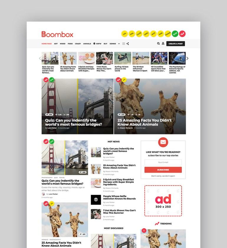 BoomBox  Viral  Buzz WordPress Theme