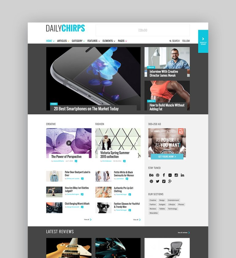 Chirps - Flexible WordPress Magazine Theme