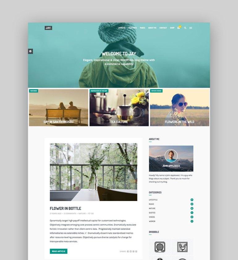 Jay - Elegant WordPress Blog Theme