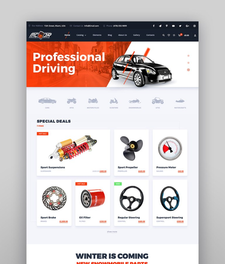 Motor - Vehicle and Parts Business Directory Theme for WordPress