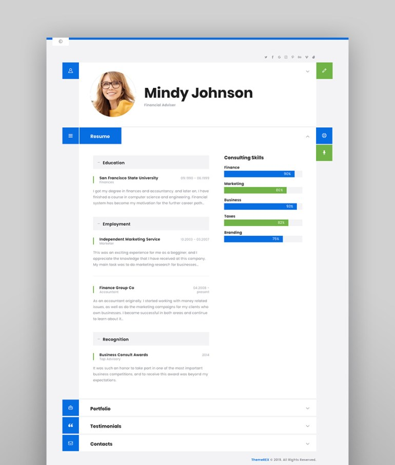 ShiftCV - WordPress Blog Resume and Portfolio