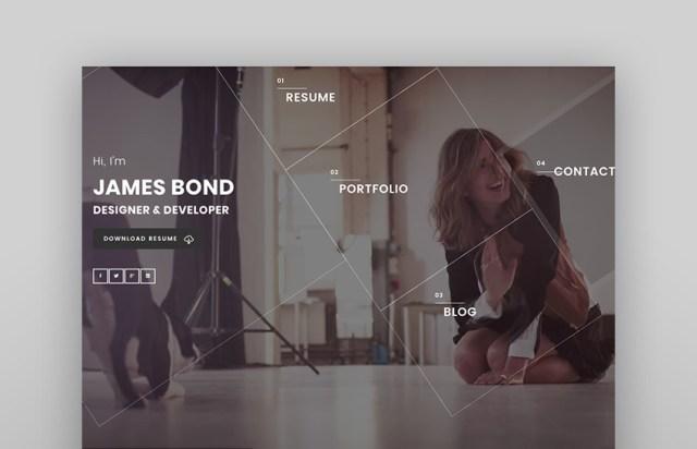 Mefolio Ajax Resume WordPress Theme