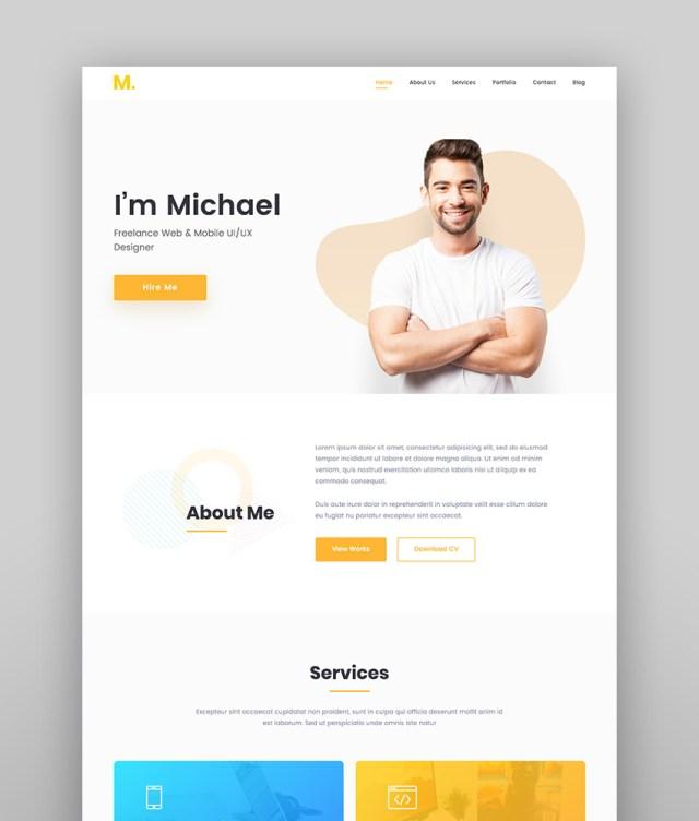 Mak - Personal Portfolio  Resume WordPress Theme