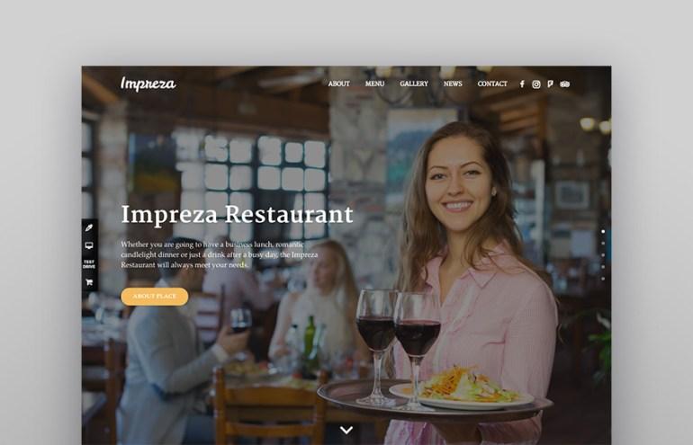 Impreza Restaurant demo