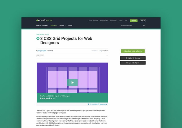 3 CSS Grid Projects for Web Designers