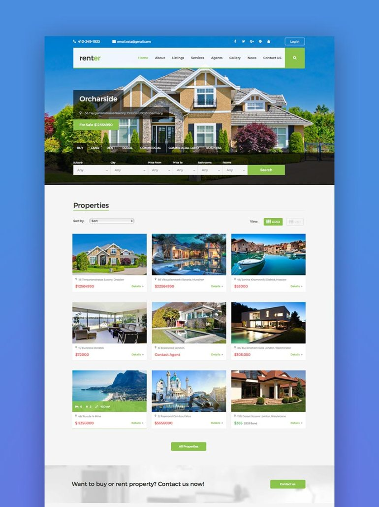 Renter  Property RentSale Real Estate WordPress