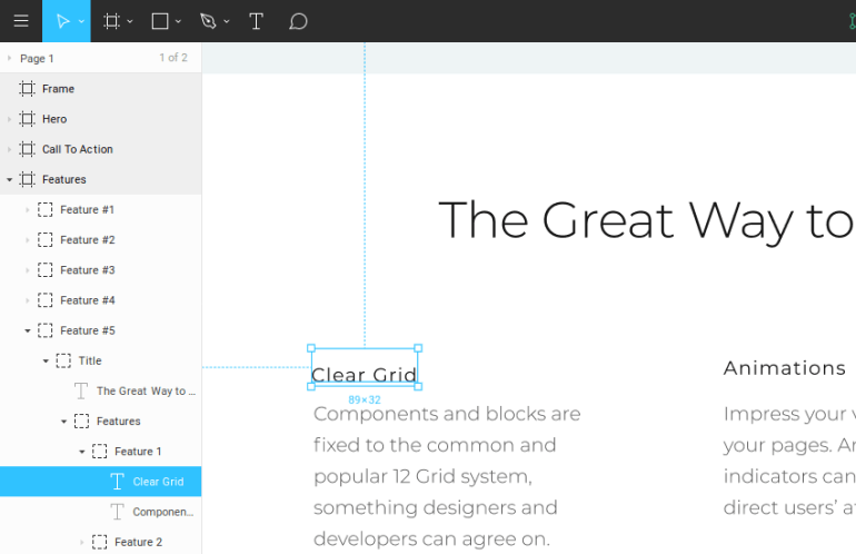 select same font in Figma